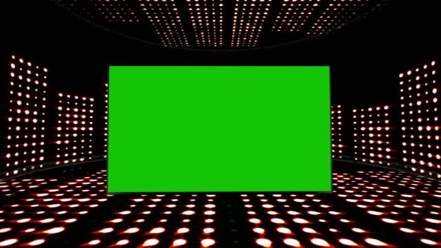 musikrum vågor och grön skärm monitor, ljus lökar animation - kokosfiber bildbanksvideor och videomaterial från bakom kulisserna