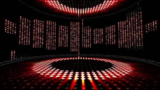vågorna musikrum, ljus lökar animering, rendering, bakgrund, loop - kokosfiber bildbanksvideor och videomaterial från bakom kulisserna