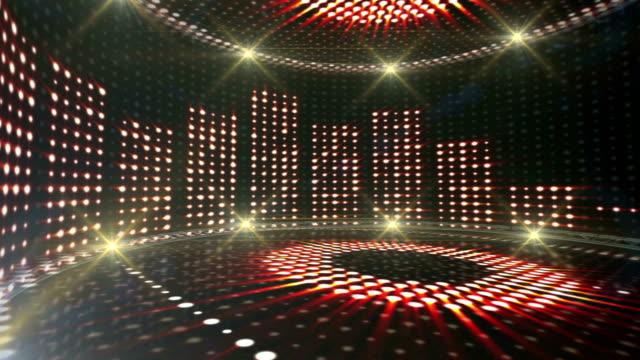 musikrum vågor, ljus lökar animation - kokosfiber bildbanksvideor och videomaterial från bakom kulisserna
