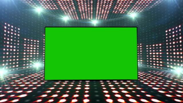 Music Waves Room, Radio, Lights Bulbs Animation, Rendering, Background, Loop video