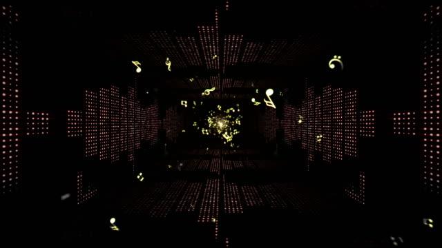 musik vågor tunnel, lyser lampor animering, rendering, bakgrund, loop - kokosfiber bildbanksvideor och videomaterial från bakom kulisserna
