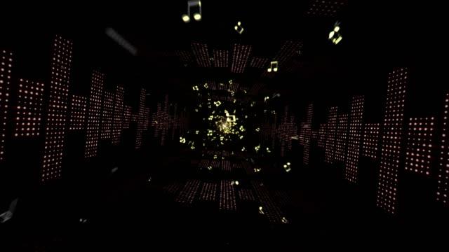 musik vågor tunnel radio, ljus lökar animering, rendering, bakgrund, loop - kokosfiber bildbanksvideor och videomaterial från bakom kulisserna