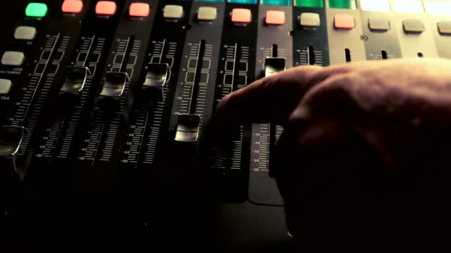 Musical Concert Sound Console Panning Clip video