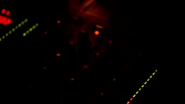 DJ. Musical equipment. Hands adjust the sound video