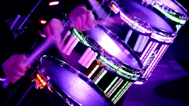 vídeos de stock e filmes b-roll de musical instruments. drums - bateria instrumento de percussão
