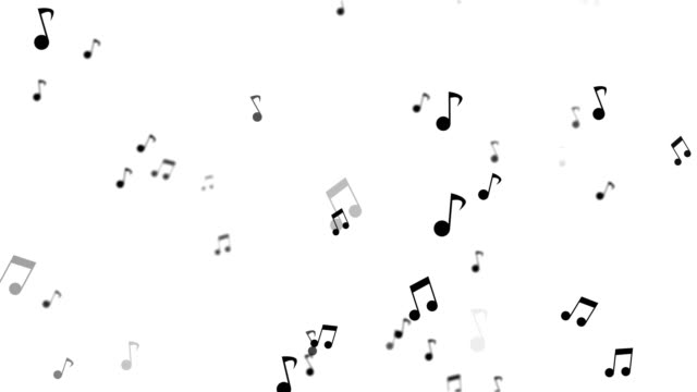 vídeos de stock e filmes b-roll de musical note background animation - nota