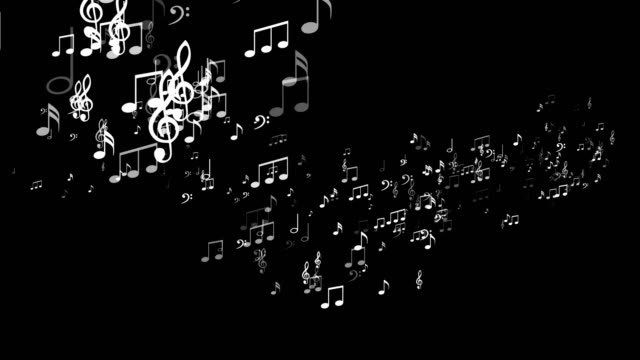 Musical Note Explosion Animation, Background, Alpha Channel, Rendering, Loop video