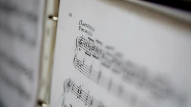 musical notes close up video