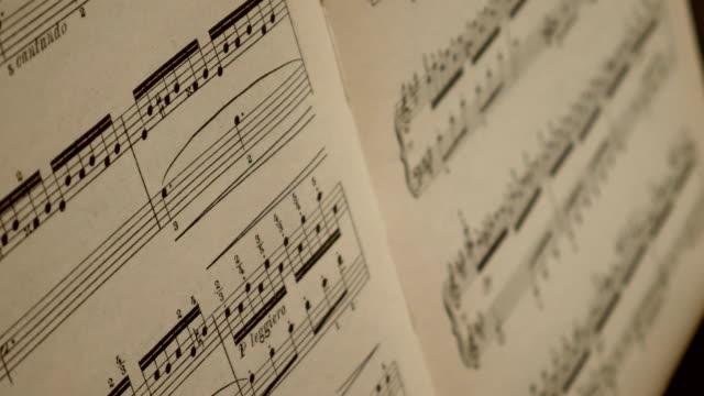 Musical notes close up.