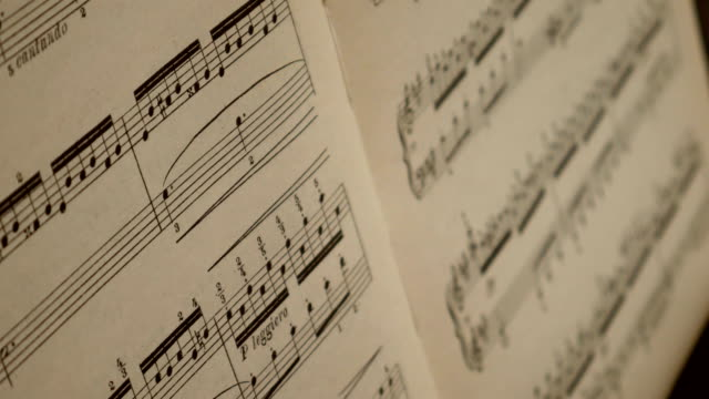 Musical notes close up. video