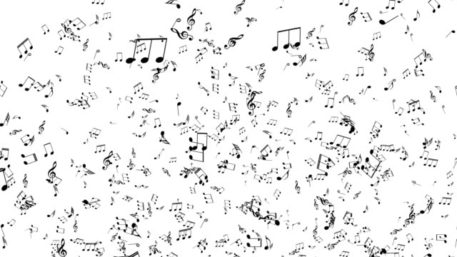 Musical Notes explosion.