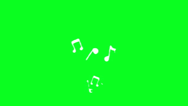 Video Musical Notes Loopable animation