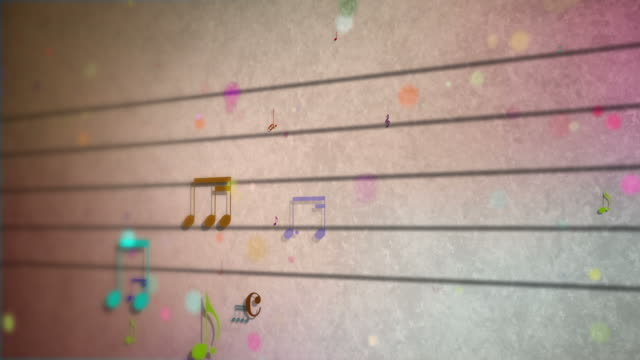 musical notes on the staff video