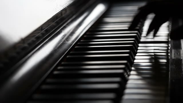 Musician play piano video
