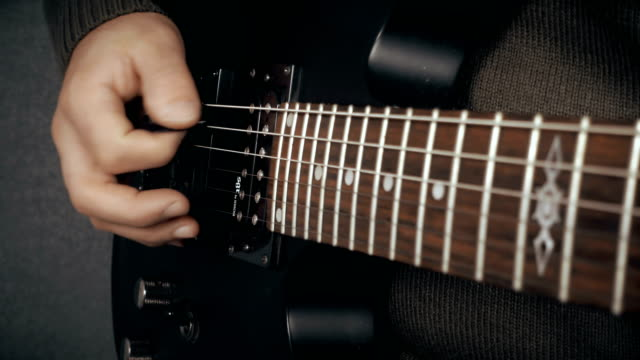 Musician Playing Electric Guitar video