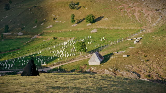 DS Muslim cemetery in mountains of Bosnia and Herzegovina
