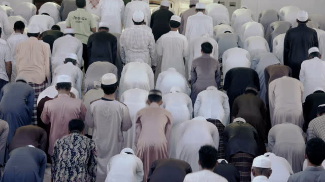 Muslim Friday mass prayer in Thailand video