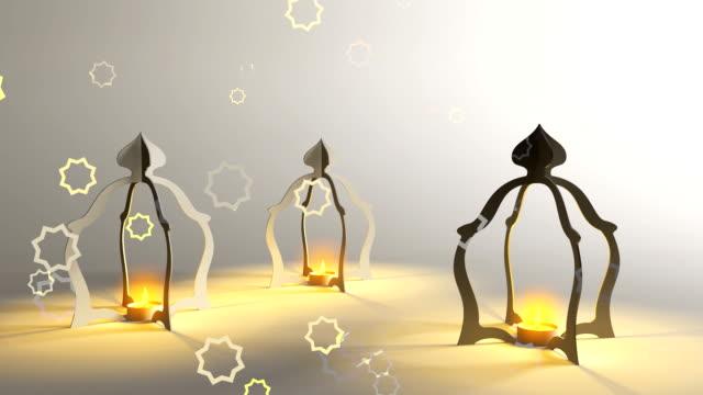 3 d мусульманских масляная лампа, рамадан - ramadan kareem стоковые видео и кадры b-roll