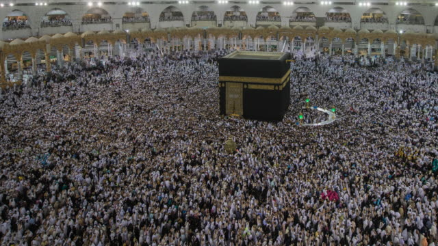 muslim praying allah in hajj 2017 video