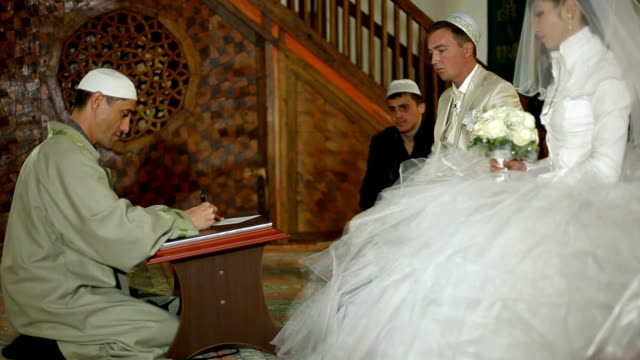 Muslim wedding ceremony Nikah in Mosque video