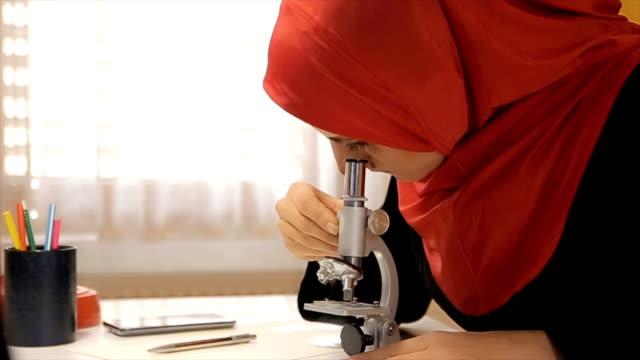 Muslim woman microbiologist video