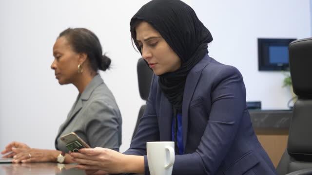 Muslim woman working video
