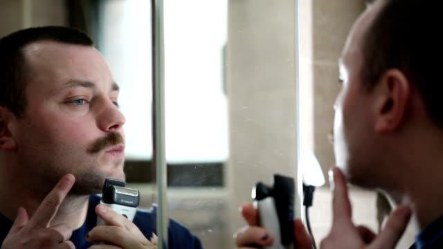 Mustache shaving video