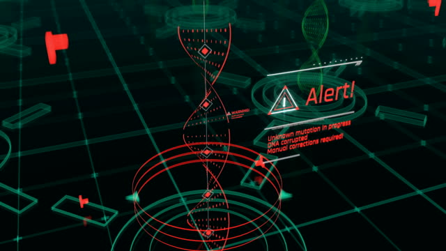 dna の突然変異、遺伝子工学、dna シーケンス変化、エピジェネティクスは、遺伝子組み換え - タッチスクリーン点の映像素材/bロール