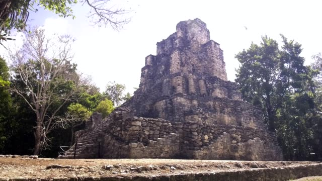 Muyil Mayan Pyramid Ruins, video 4k