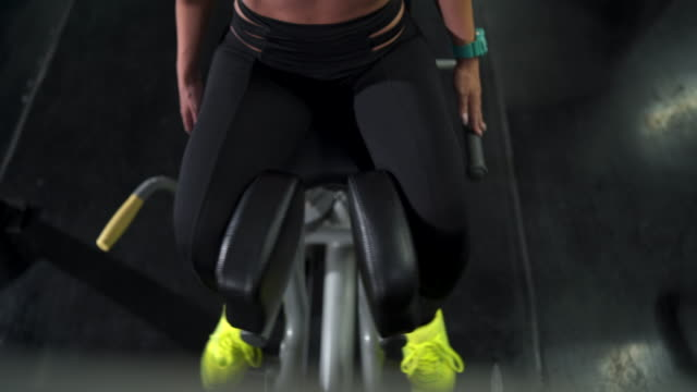 My body is my temple Woman working out in the gym tank top stock videos & royalty-free footage