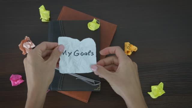 My goals.