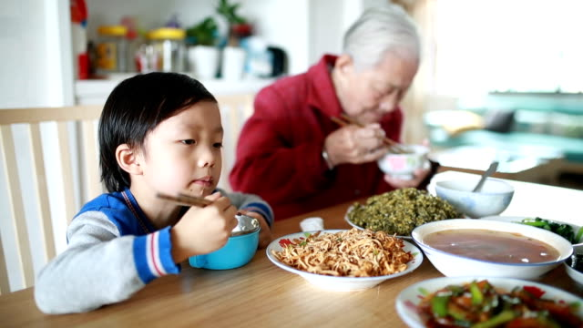 My grandmother at lunch My grandmother at lunch chinese culture stock videos & royalty-free footage