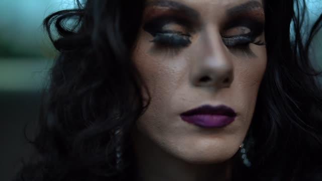 stockvideo's en b-roll-footage met mijn leven mijn keuzes - drag queen concept - drag queen