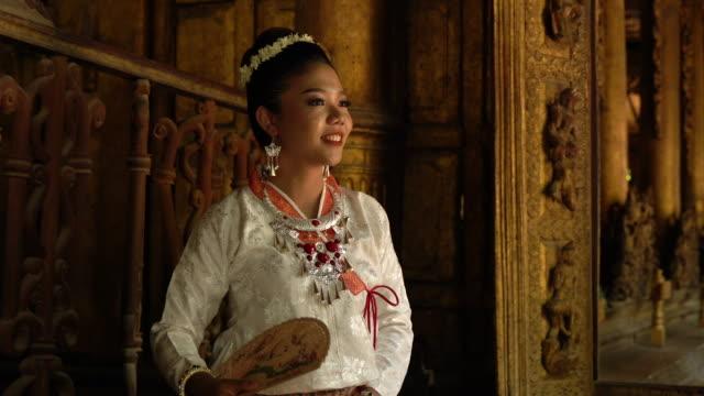 Myanmar Woman in traditional Myanmar suit