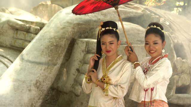 Myanmar Women in traditional Myanmar suit