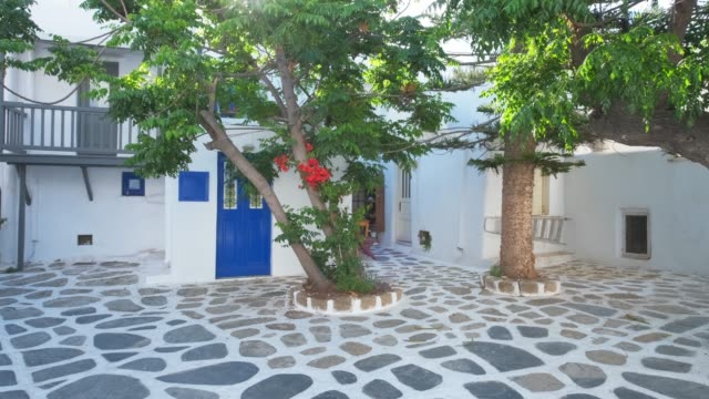Mykonos street on Mykonos island, Greece