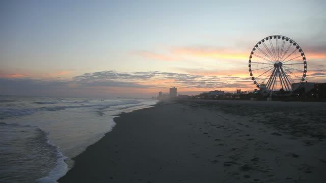 myrtle beach - spring break stock-videos und b-roll-filmmaterial