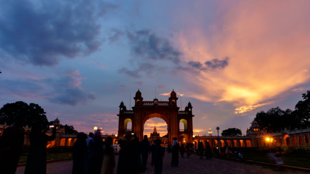 Mysore Palace Day to Night 4K Timelapse video