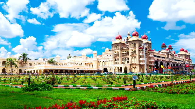 Mysore. The main palace complex. time-lapse video
