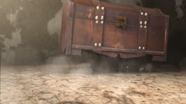 misterioso casella - scatola del tesoro video stock e b–roll