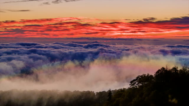 Mysterious Cloud Formations with a Rainbow in the Appalachian Mountains video