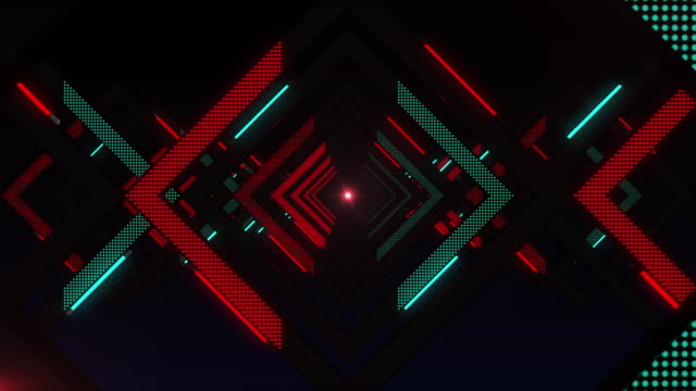 Mysterious light, endless tunnel, vj loop
