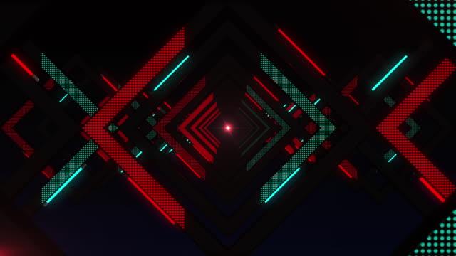 神秘的な光、無限トンネル、vj ループ - 輪点の映像素材/bロール