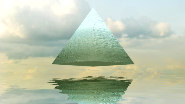 mysterious pyramid seamless loop - pyramidform bildbanksvideor och videomaterial från bakom kulisserna