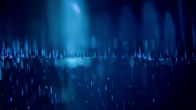 Mysterious underwater scenery with bubbles Underwater life. Sunbeam creating striped pattern, surface slowly waving. Bright deep stock videos & royalty-free footage