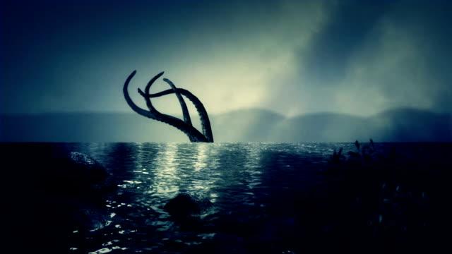 Mythical Kraken Giant Squid Tentacles - vídeo