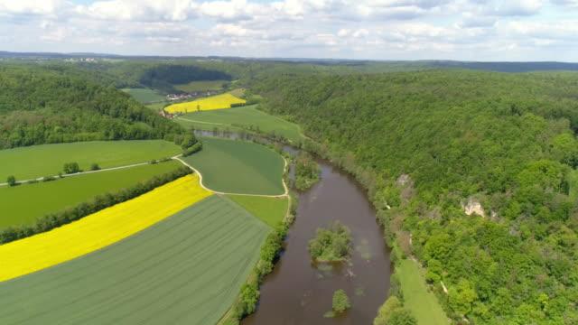Naab River In Bavaria In Springtime video