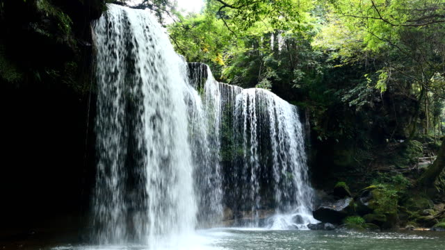 Nabegataki fall in Japan - video