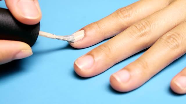 nail painting - nagellack bildbanksvideor och videomaterial från bakom kulisserna