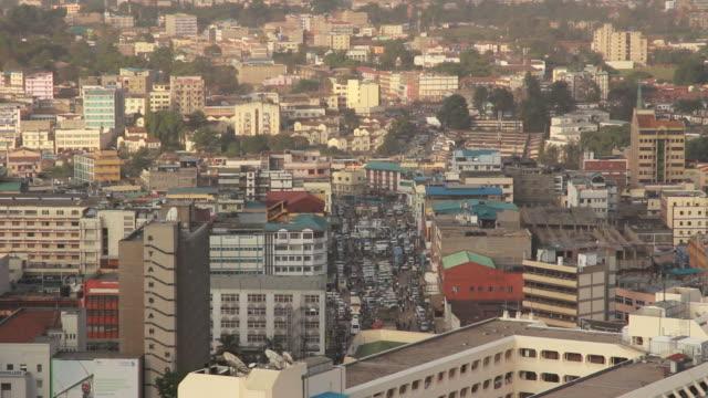 vídeos de stock e filmes b-roll de vista da cidade de nairóbi - quénia